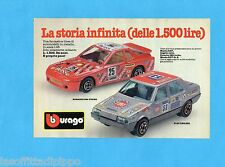 TOP985-PUBBLICITA'/ADVERTISING-1985- BURAGO - PORSCHE 924 TURBO+FIAT REGATA 1:43