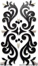 Beautiful Lace Wedding Anniversary Silver Black Gorgeous  Jolee's 3D Stickers