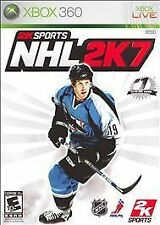 NHL 2K7 Xbox 360 COMPLETE w/ Game Manual, Original Case and Art Cover
