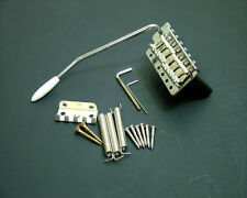 Dragonfire Strat Tremolo/Trem System Steel Block and Saddles, Chrome