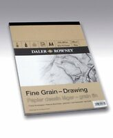 A4 DALER ROWNEY FINE GRAIN DRAWING PAD 120gsm ARTIST TEXTURED SKETCHING PAPER