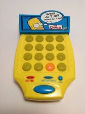 The Simpsons Sez Handheld Game  2003 Tiger Homer Bart Simpson Toy
