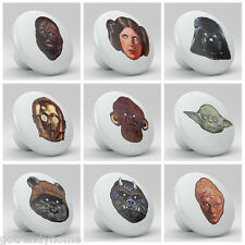 Set of 9 Star Wars Vintage Vader Ceramic Knobs Pulls Bed Drawer Dresser 1675