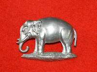 British Army. 19th Hussars Foreign Service Helmet Cap Badge