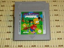Bart Simpsons Escape from Camp Deadly GameBoy u Color