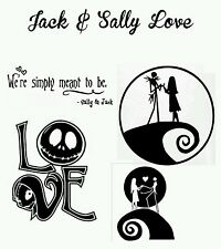 Jack skellington and Sally , Nightmare Before Christmas , Love ,Car decal Window