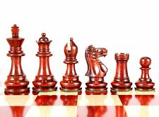 """Bud Rose Wood Monarch Staunton Wooden Chess Set Pieces King Size 3"""""""