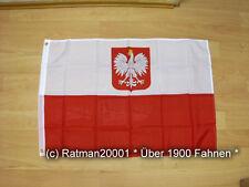 Fahnen Flagge Polen mit Wappen - 60 x 90 cm