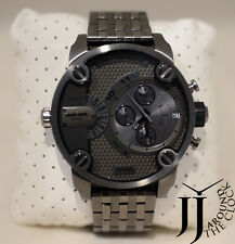 New Diesel SBA Dual Time Chronograph Dial Gunmetal Tone Mens Watch DZ7263