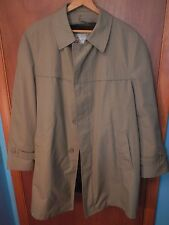 Harbor Light, Tan Men's women's Trench Coat w Zip Up Liner Size 44 Long EUC