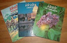 Lot of 3  Ideals Magazines Liberty, Mothers Day ,Memories