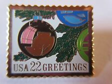 #2368 1987 22c CHRISTMAS ORNAMENTS STAMP USPS pin Postage  pinback NEW
