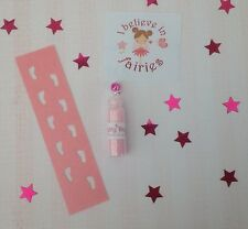 Fairy Footprints Stencil, Fairy Dust And Sticker - Ideal For Tooth Fairy - Pink
