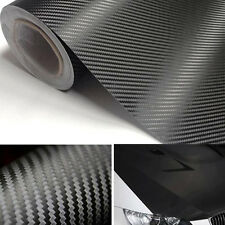 "20""X50"" Black 3M Carbon Fiber Vinyl Auto Car Wrap Roll Film Sticker DIY Useful"