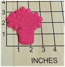 Smiling Flowers in Pot Fondant Cookie Cutter and Stamp #1370