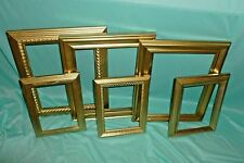 LOT OF 6 ORNATE GOLD ornate OPEN FACE PICTURE FRAMES-WEDDING,regency, french #c