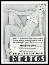 PUBLICITE  KESTOS SEXY WOMAM  LINGERIE SOUTIEN GORGE BRA   AD 1932 - 2h