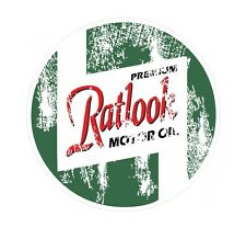 Distressed Aged Retro Ratlook Motor Oil Euro Rat Style Vinyl car sticker Decal