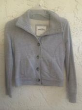 ABERCROMBIE FITCH A&F Ashley Fur Jacket Coat Gray Women Sz M