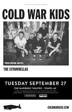 COLD WAR KIDS / STRUMBELLAS 2016 PHOENIX CONCERT TOUR POSTER - Indie/Blues Rock