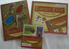 DINOSAUR Memory Match Game SET 3D Glasses Stickers Prehistoric Science Gift