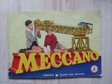 manuel d'instructions n° 1 du jeu MECCANO ( 1954)