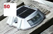 50 Pack Solar LED Pathway Driveway Lights Dock Path Step Road Safety Markers