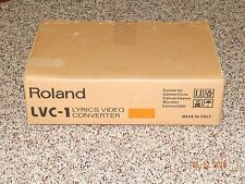 New ROLAND Lyrics Video Converter LVC-1N NTSC M Digital Piano Keyboard KARAOKE