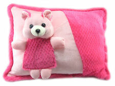 Tickles Pink Teddy Cushion Stuffed Soft Plush Toy Pillow 38 cm C103