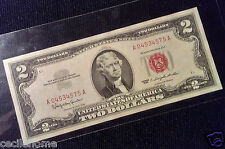 USA BANKNOTE $2 1963 RED SEAL TWO DOLLARS aUNC BANKNOTE ABOUT UNCIRCULATED