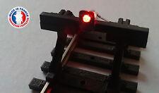 FEU01-0-Lot de 10 feux de heurtoir avec led rouge