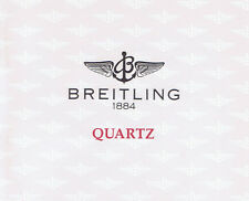 BREITLING COLT CALLISTINO QUARTZ ANLEITUNG INSTRUCTIONS QUARTZ I216