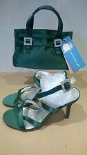 Karen Millen Jade matching shoes and hand bag with diamante detail Size UK 5/38