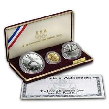 1992 UNITED STATES OLYMPIC 3 COIN SET - PROOF