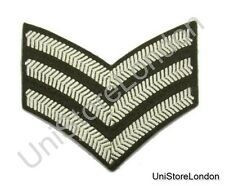 CHEVRON SERGEANT STRIPES CLOTH PATCH OLIVE GREEN Sold Each R554