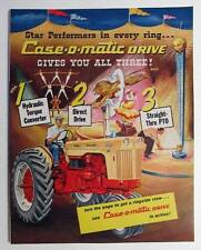 1958 Case 4 Page Tractor Magazine Brochure Ad THE CASE-O-MATIC DRIVE GIVES ALL 3