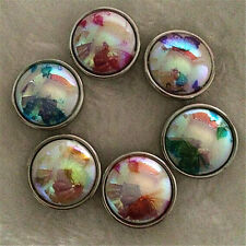 6pcs18mm Mix AB butterfly Snaps Chunk Charm Button Fit NOOSA Leather Bracelets