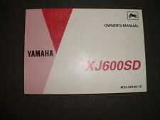 1992 Yamaha  XJ600SD - Factory Owners Manual