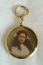 An Edwardian yellow gold ladies glazed Locket / Pendant.Marked 9ct. Circa 1900's