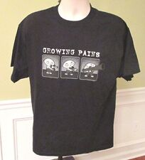 Stewie Growing Pains Novelty Graphic Black Tee Short Sleeve T-shirt Size Large