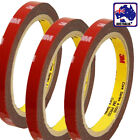 3 Rolls of 3M Truck Car Acrylic Foam Double Sided Attachment Tape 8mm TTAPE03x3
