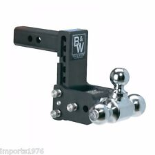 "B&W Tow & Stow Hitch Tripple Ball Mount 5"" Drop TS10048B With Masterlock 1469DAT"