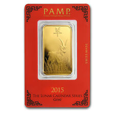 1 oz Gold Bar - Pamp Suisse Year of the Goat (In Assay) - SKU #85948