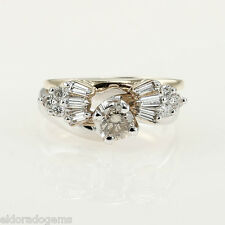 1.25 CT DIAMOND SOLITAIRE ENGAGEMENT WEDDING BAND SET 18K YELLOW WHITE GOLD RING