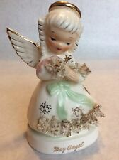 Vintage 1950's Napco MAY BIRTHDAY GIRL ANGEL FIGURINE S1365 B4
