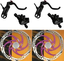 Bengal Helix 7B Bike Bicycle Hydraulic Disc Brakes 160mm F&R Complete set Black
