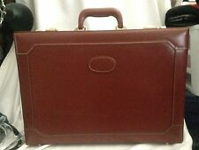 Vintage Genuine Leather World Traveller Briefcase, with twin combi locks NOS