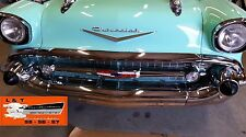 1957 Chevy Hood Bar + Extensions Set Chrome Made In USA Belair Nomad Sedan Wagon