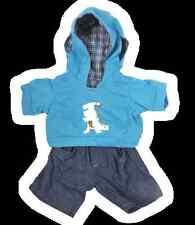 """Teddy Bear vestiti abito da Dinosauro Dino Felpa con Cappuccio e Jeans Fit 8"""" Build A Bear"""