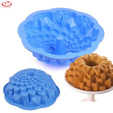 Chrysanthemum Shape Bundt Cake Pan Bread Chocolate Bakeware Silicone Mold